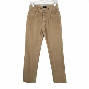 "Nautica Corduroy 10"" High-rise Camel Pants size 8"